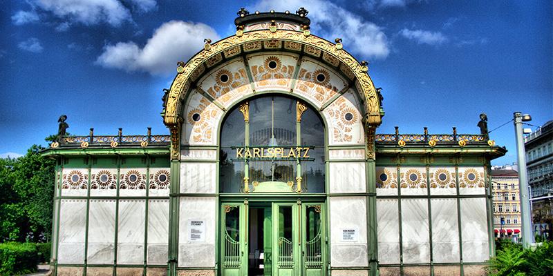 Otto Wagner Pavilion on Karlsplatz