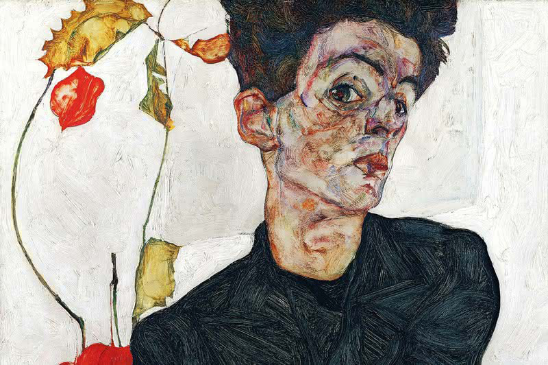 Schiele Self-portrait